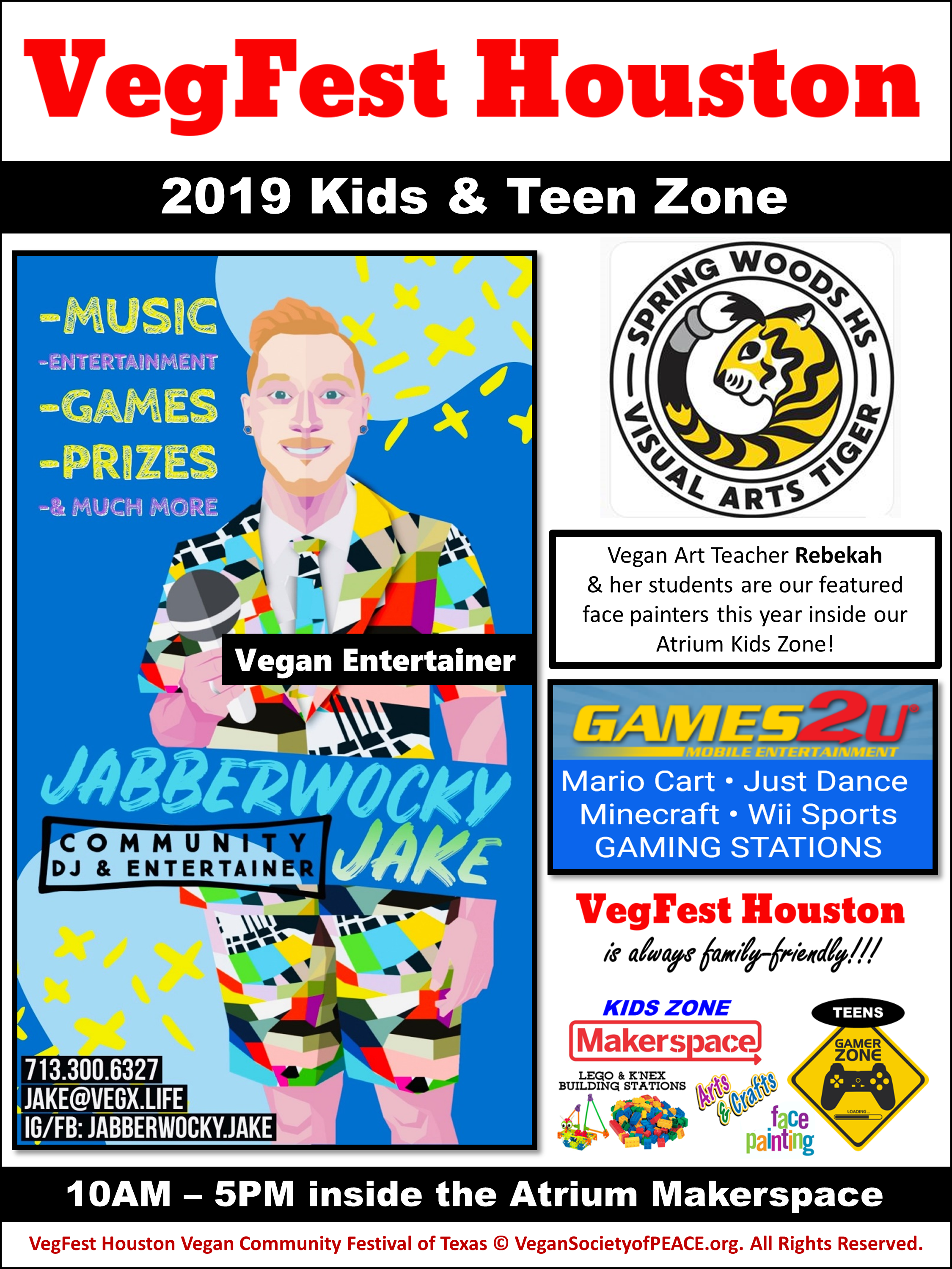 7th Annual VegFest Houston Vegan Society of PEACE Kids Zone Teen Zone