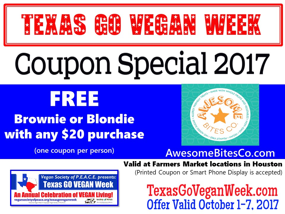 Awesome Bites Co 2017 Texas Go Vegan Week