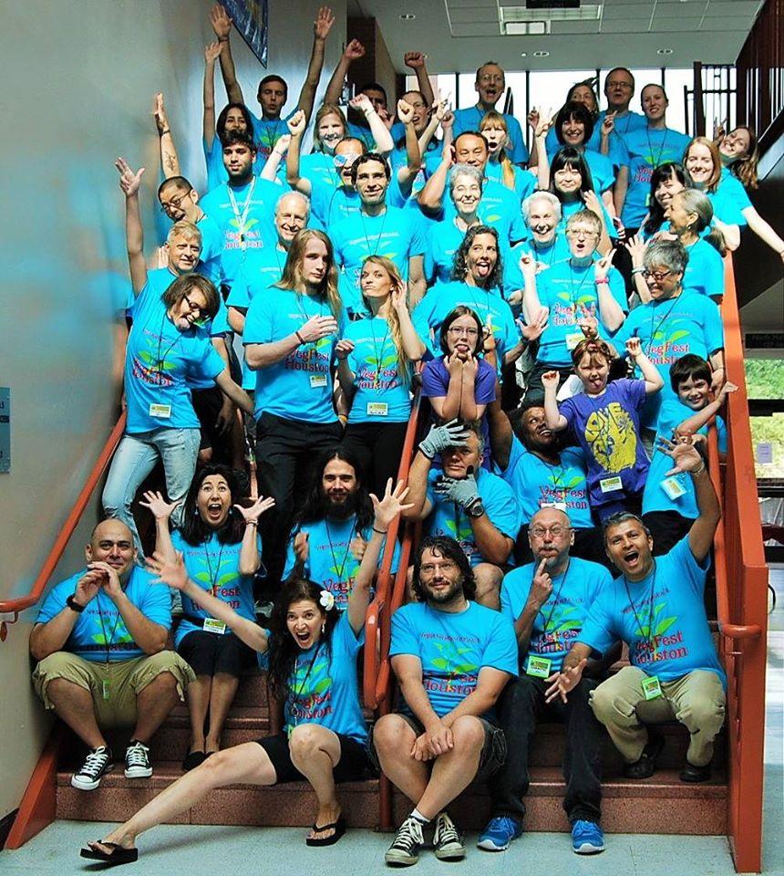 VegFest Houston 2014 Volunteers Vegan Society of PEACE