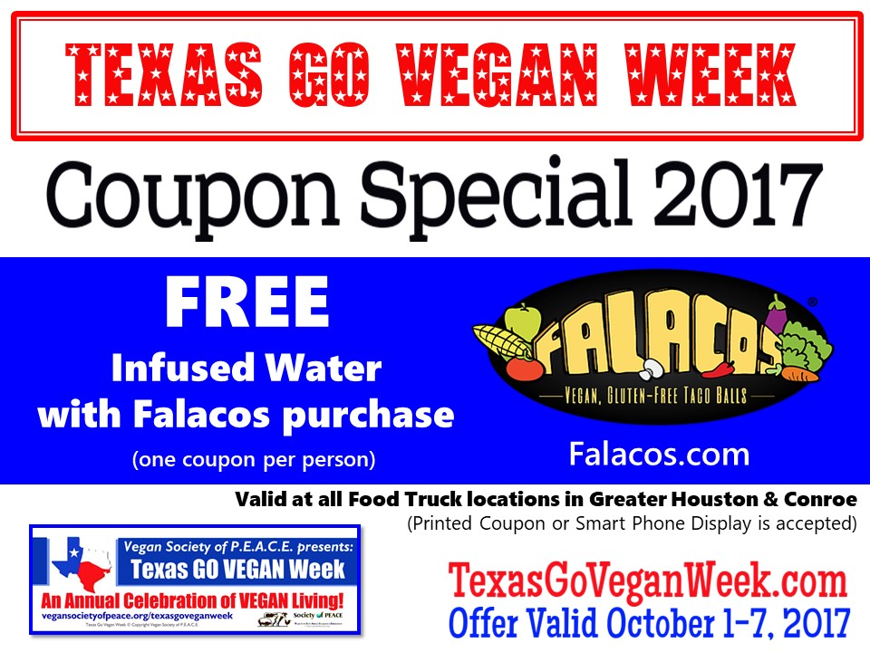 Falacos 2017 Texas Go Vegan Week