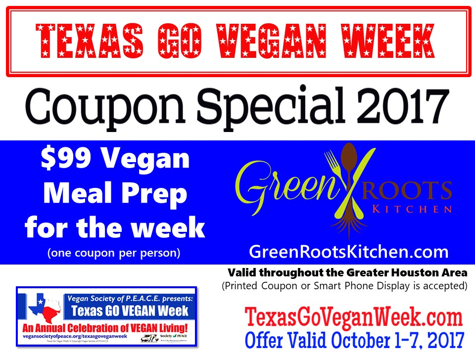 Green Roots Kitchen 2017 Texas Go Vegan Week
