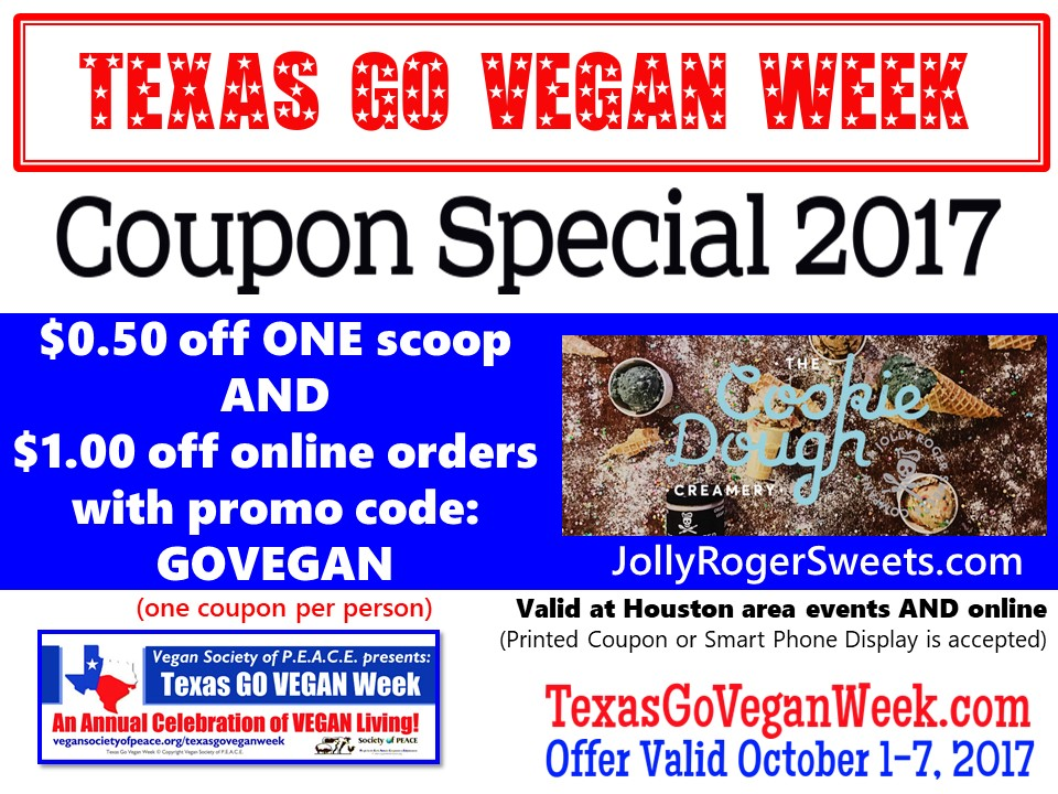 Jolly Roger Sweets 2017 Texas Go Vegan Week