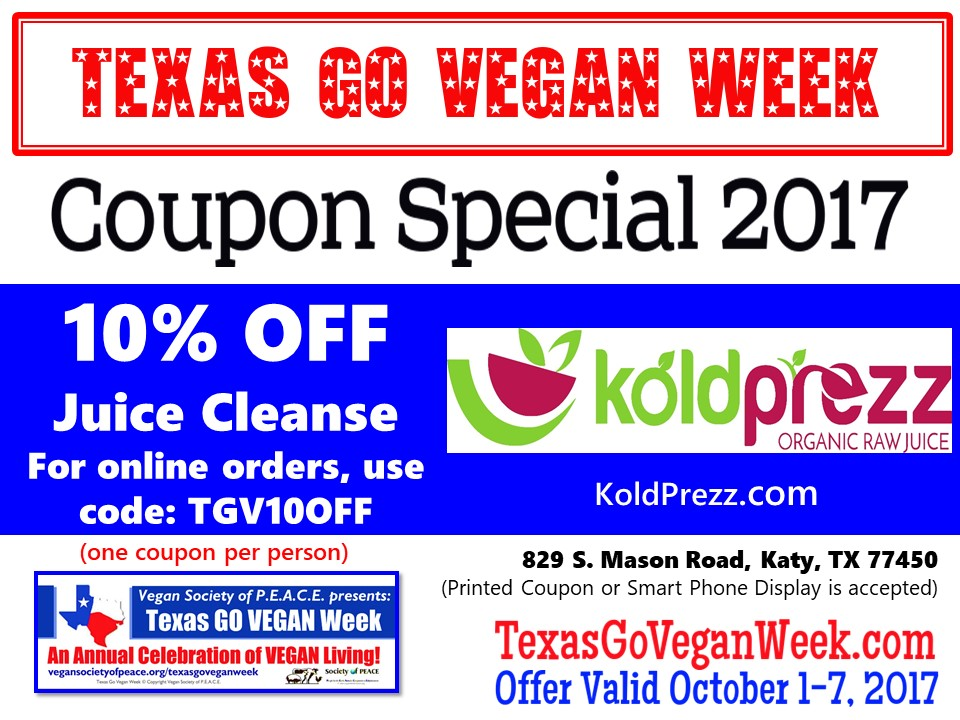 KoldPrezz 2017 Texas Go Vegan Week