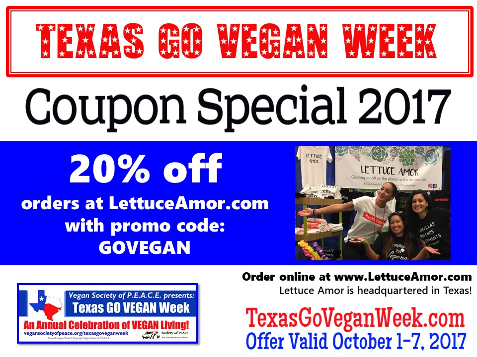 Lettuce Amor 2017 Texas Go Vegan Week