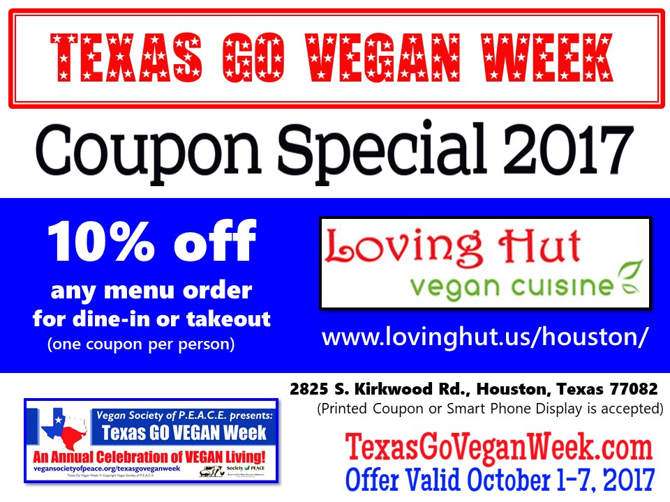 Loving Hut Houston 2017 Texas Go Vegan Week