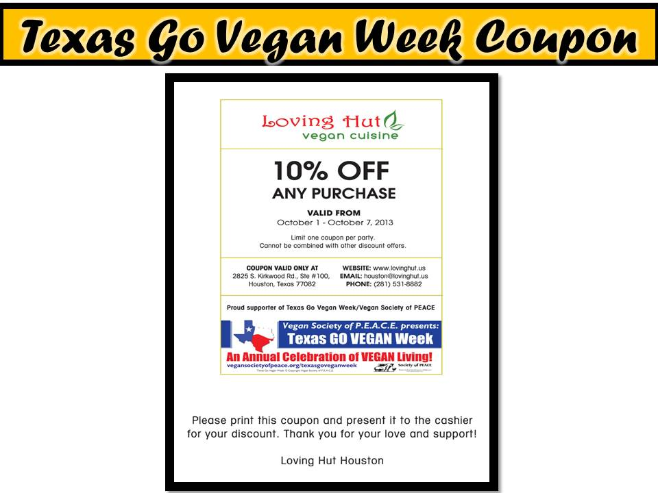 Loving Hut Vegan Coupon