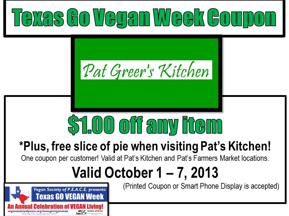 Pat Greer Kitchen coupon
