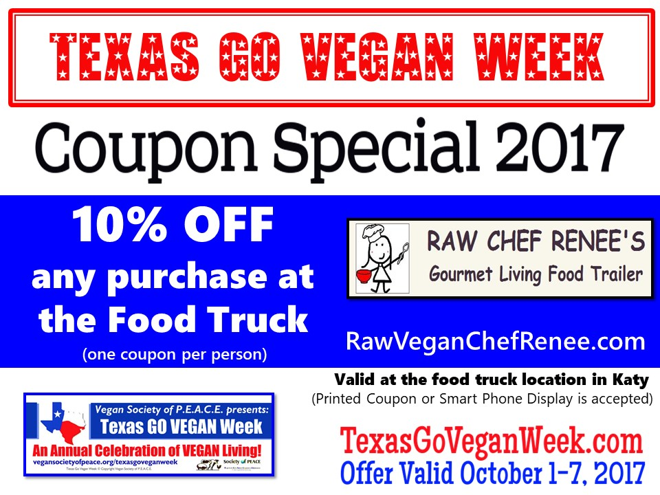 Raw Vegan Chef Renee 2017 Texas Go Vegan Week