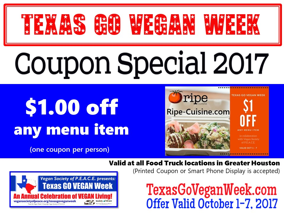 Ripe Cuisine 2017 Texas Go Vegan Week
