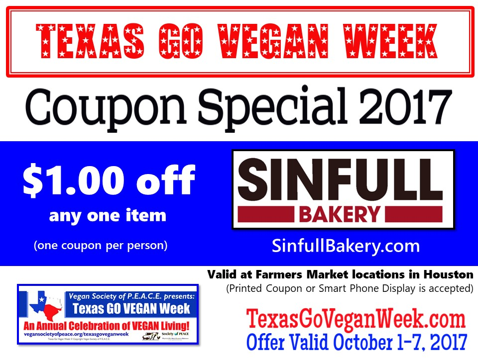 Sinfull Bakery 2017 Texas Go Vegan Week