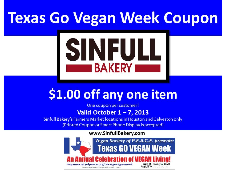 Sinfull Vegan TXGVW 2013 Coupon