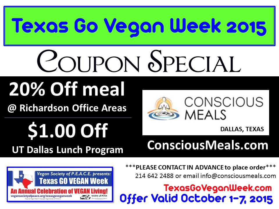 Conscious Texas Go Vegan Week 2015
