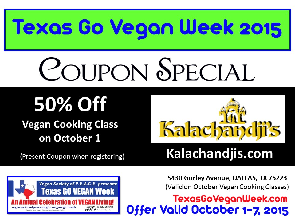 Kalchandjis Texas Go Vegan Week 2015
