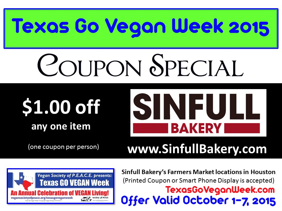 Sinfull Bakery Texas Go Vegan Week 2015