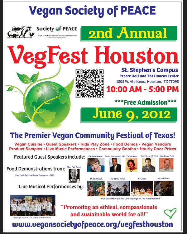 VegFest Houston 2012 Poster