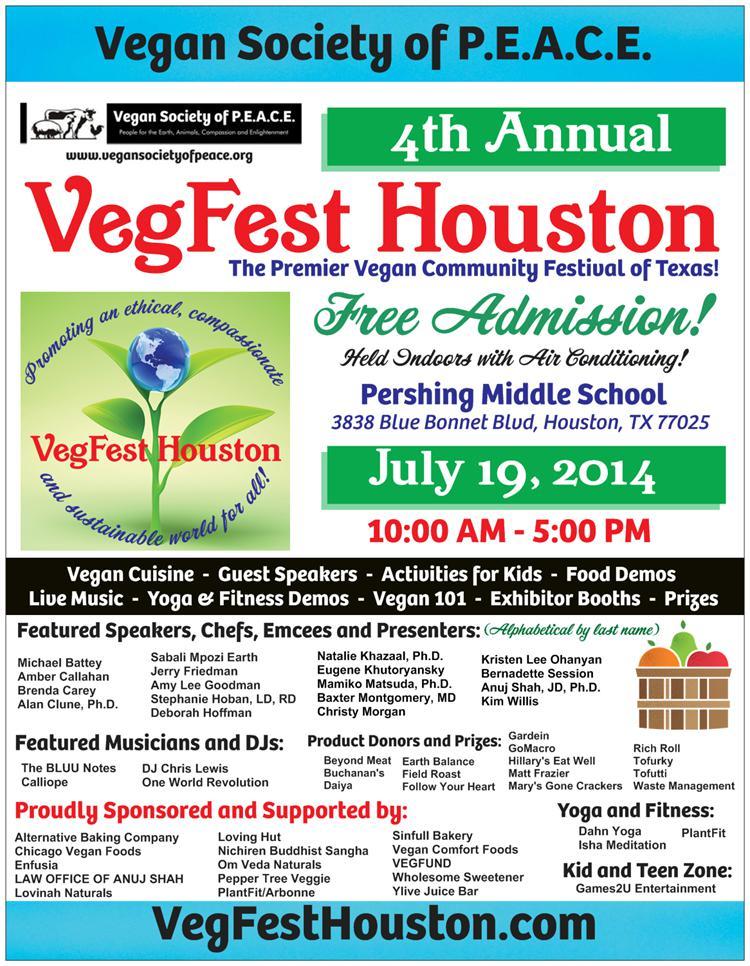 VegFest Houston 2014 Vegan Society of PEACE