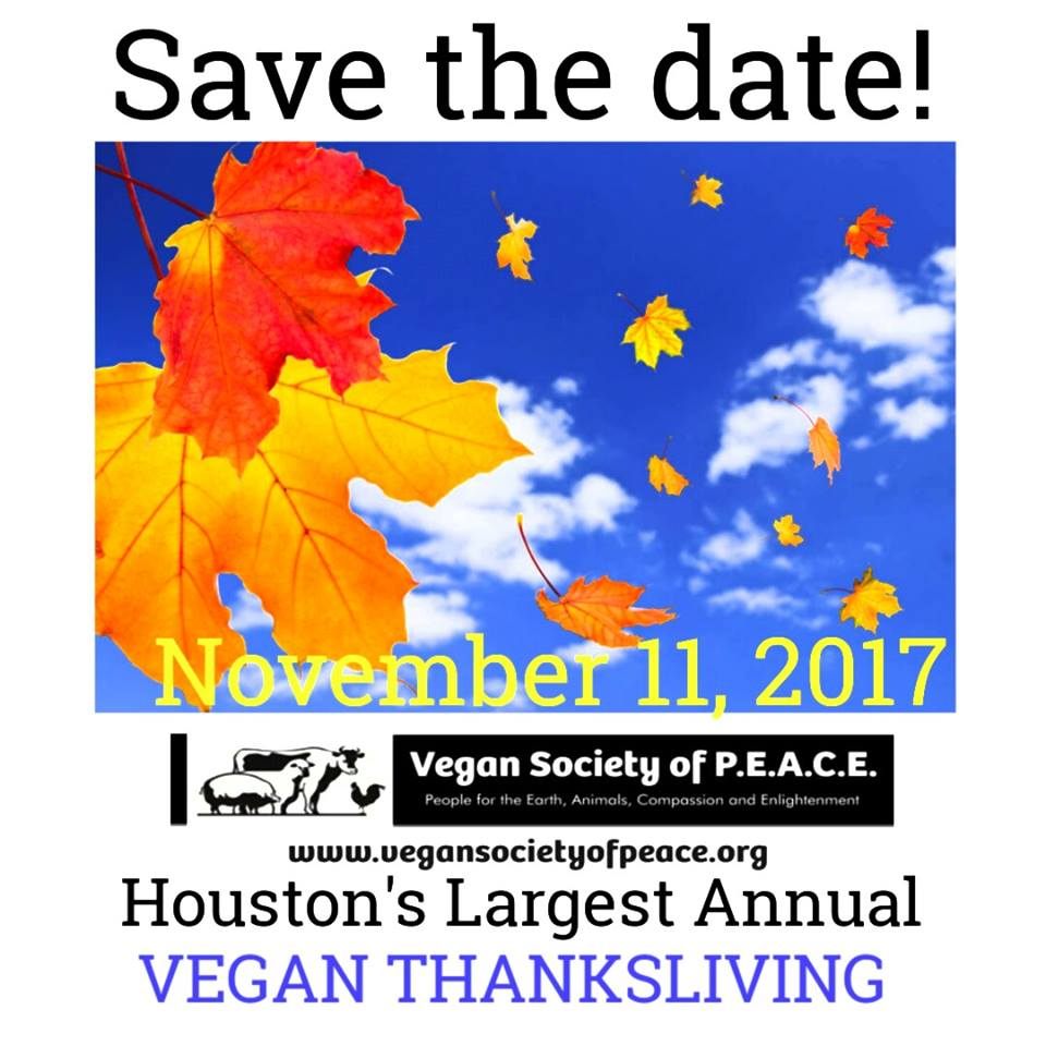 Vegan Society of PEACE Thanksliving promo 2017