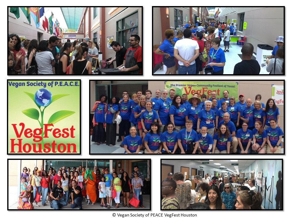 VegFest Houston 2013 Vegan Society of PEACE