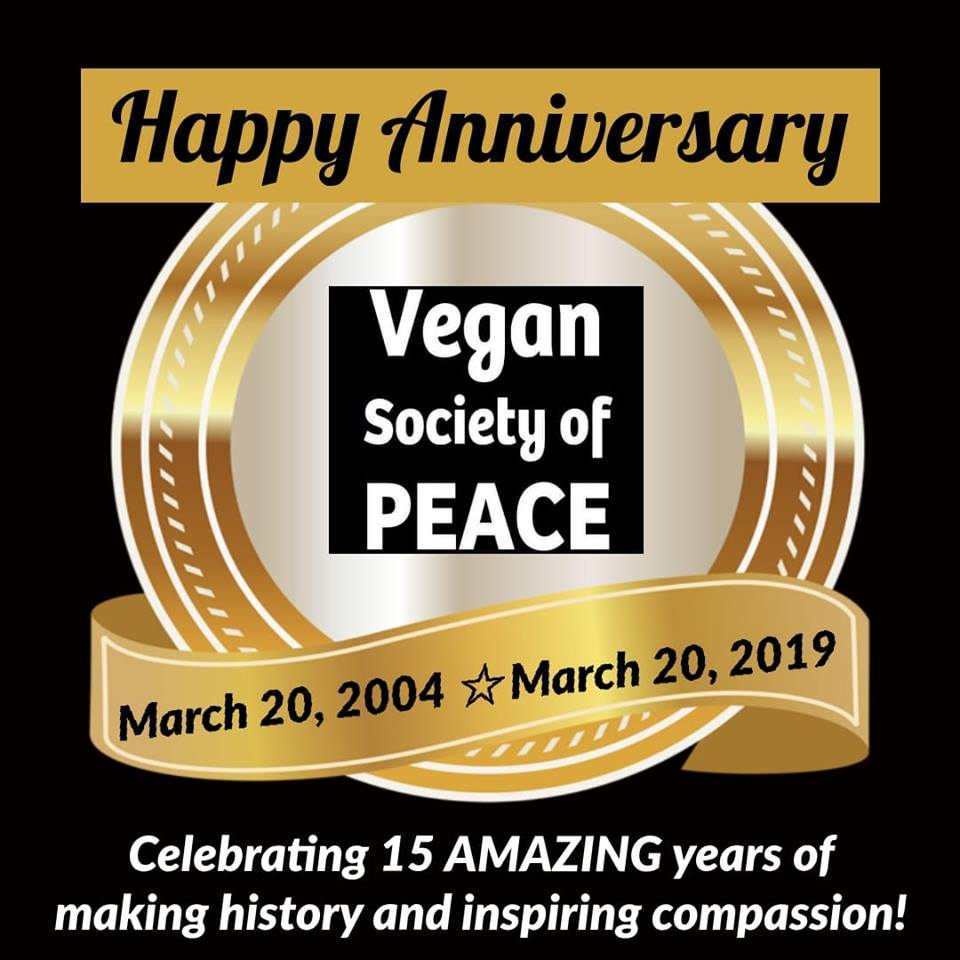 Vegan Society of PEACE 15 year anniversary Houston TExas
