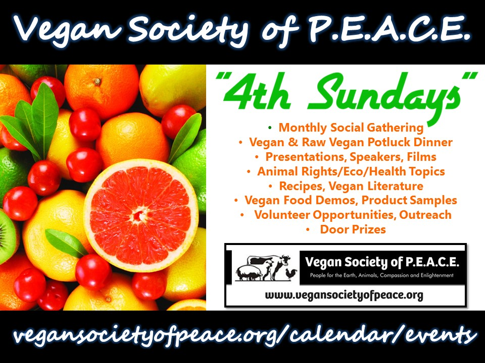 Vegan Society of PEACE 4th Sundays League City